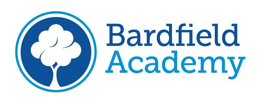 Parkwood Academy logo blue fonts